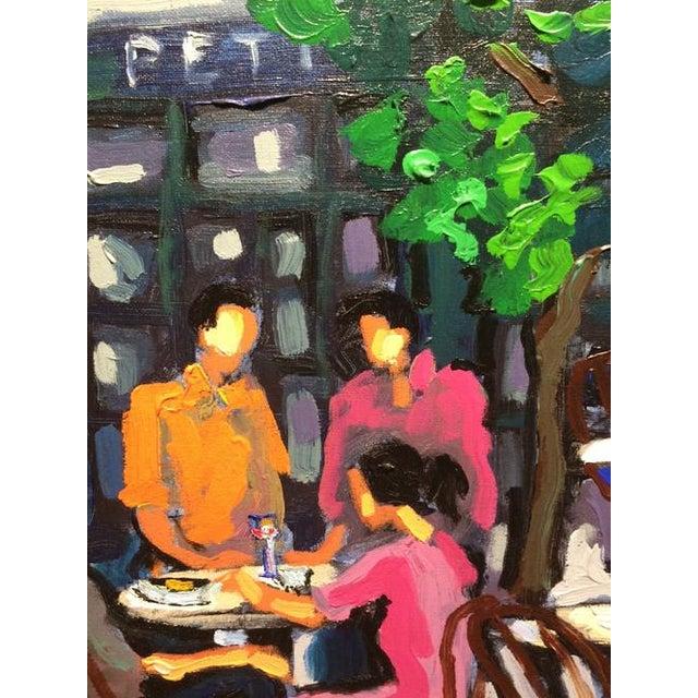 2010s Yvonne Mora, Paris Café Painting, 2013 For Sale - Image 5 of 6
