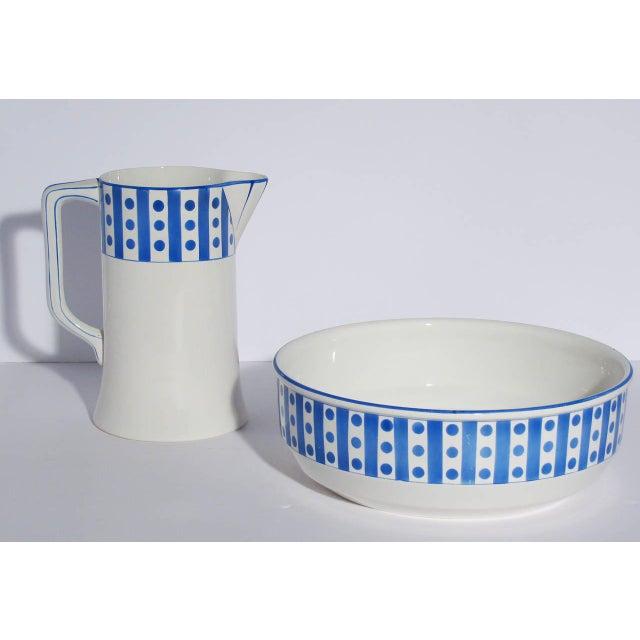 Large Belgian Porcelain Pitcher and Bowl - Image 5 of 9