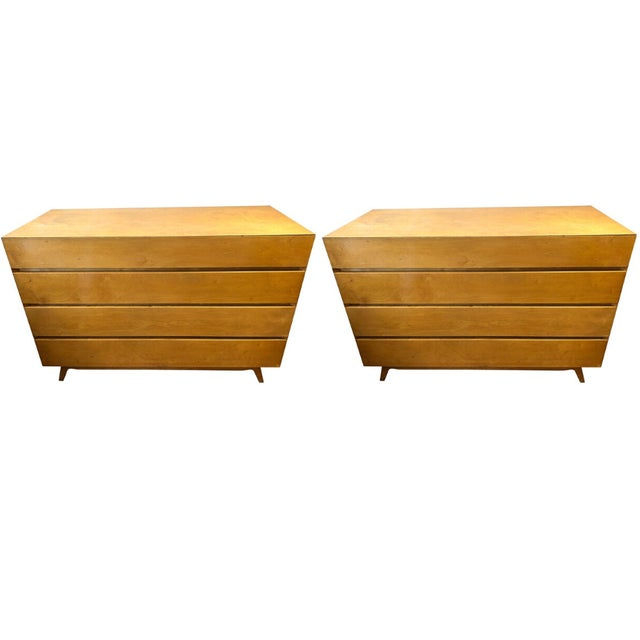 1960s 1960s Golden Birch Mid-Century Modern Swedish Dressers - a Pair For Sale - Image 5 of 5
