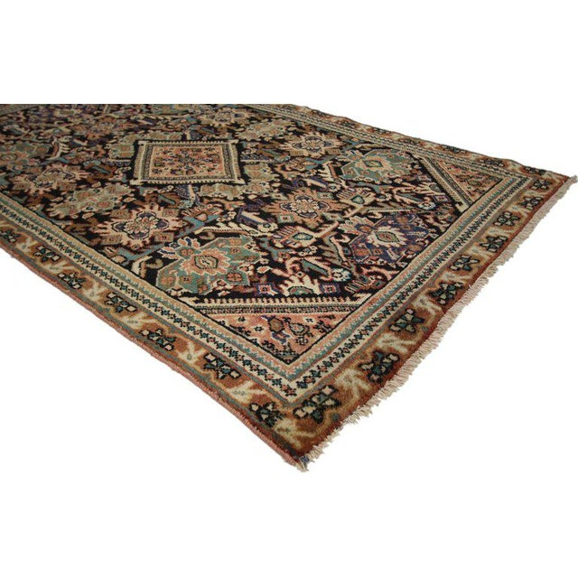 Islamic Vintage Mid-Century Persian Mahal Rug - 4′1″ × 6′7″ For Sale - Image 3 of 8