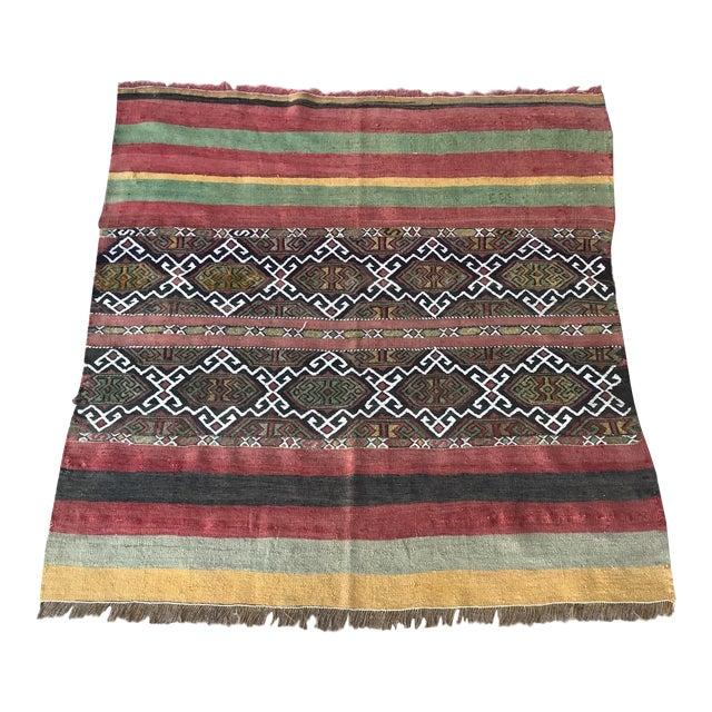 1930s Turkish Anatolian Kilim Rug For Sale