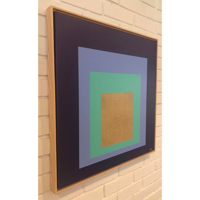 """Artist: Tony Curry Modern Abstract Fine Art Print on canvas Hand Signed & Numbered Size: 24x24"""" inches. Modern Art at its..."""