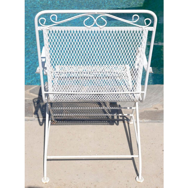 Vintage Patio Mesh Table & Bouncer Chairs - S/5 - Image 5 of 7