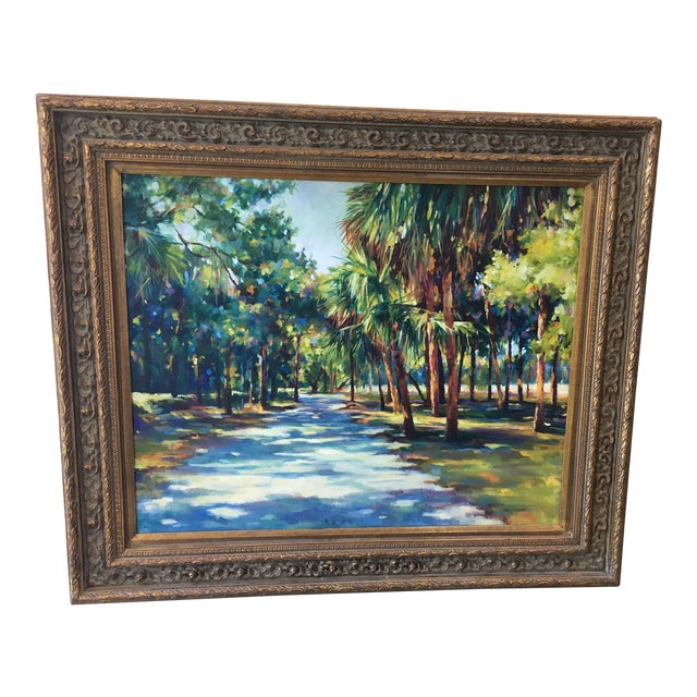 Lowcountry Landscape Oil Painting - Image 1 of 7