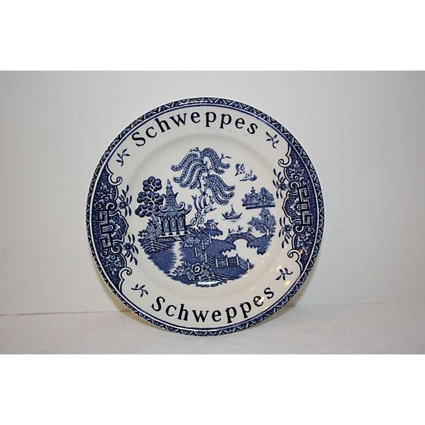 English Schweppes tip dish that would have been used by cafes or bars as advertising. Maker's mark as shown on bottom.