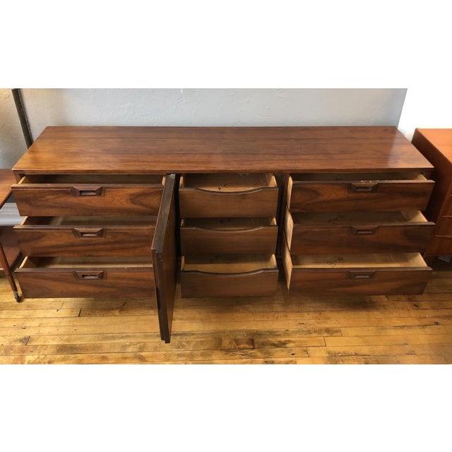 Mid-Century Modern Mid Century Walnut Credenza Style Lowboy Dresser 1960's For Sale - Image 3 of 13