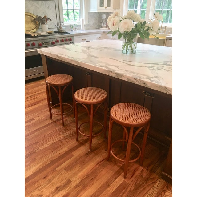Mid-Century Thonet Style Bentwood Stools - Set of 3 For Sale - Image 10 of 11