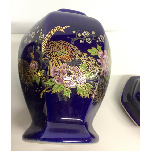 Mini Japanese Cobalt Ginger Jars - A Pair For Sale - Image 10 of 11