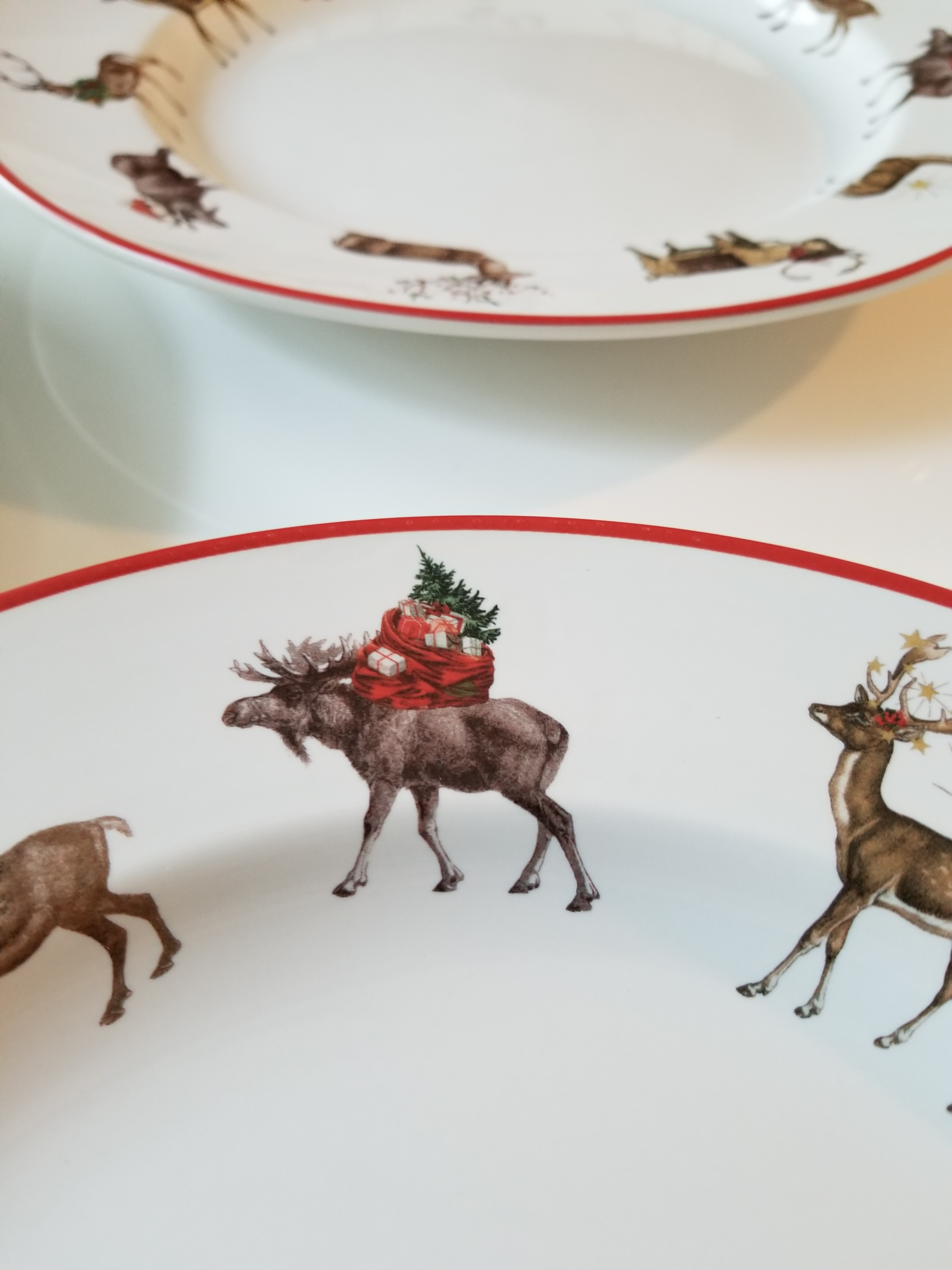 Pottery Barn \ Silly Stag\  Holiday Dinner Plates - Set of 4 - Image 2  sc 1 st  Chairish & Pottery Barn \
