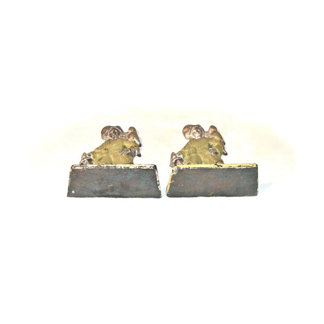 1920s Pirates With Parrots Painted Bookends - A Pair For Sale - Image 4 of 10