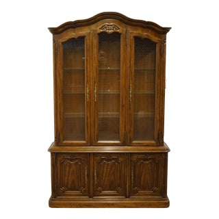 Vintage Drexel Heritage Touraine III Collection French Provincial China Cabinet For Sale