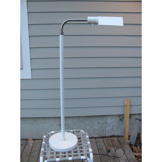 Mid 20th Century Adjustable Height Floor Lamp by J Mendizabal for Industria Argentina With Shade For Sale - Image 13 of 13