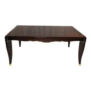 1930's French Mahogany Dining Table For Sale