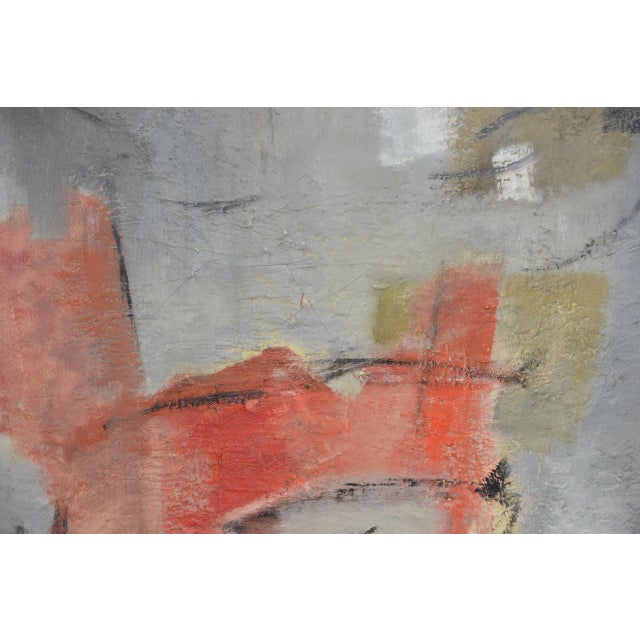 Mid Century Modern Abstract by Erika Baumgart c.1964 For Sale In San Francisco - Image 6 of 9