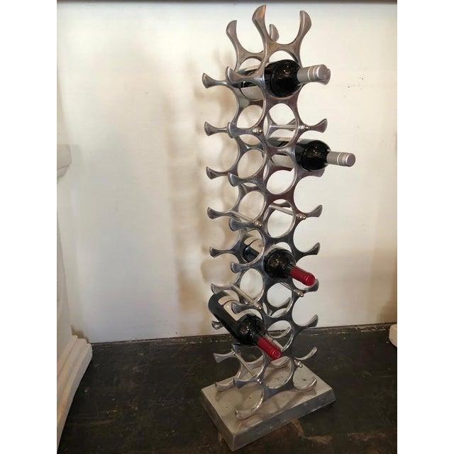 Mid-Century Modern 1970s Cast Aluminum Wine Rack For Sale - Image 3 of 10
