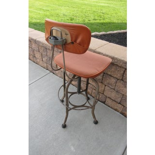 1950s Vintage Toledo Metal Furniture Company Persian Orange Industrial Age Drafting Chair Preview