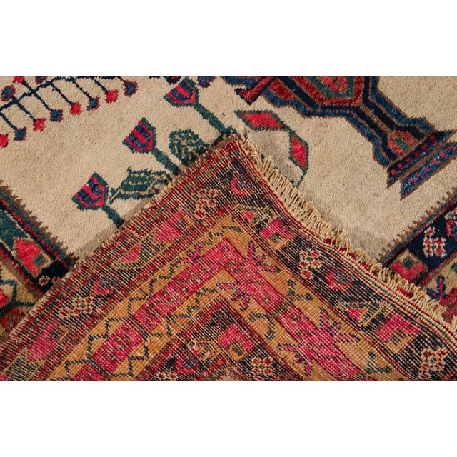 Mid-20th Century Vintage Persian Rug 4' 2'' X 6' 3''. For Sale - Image 4 of 12