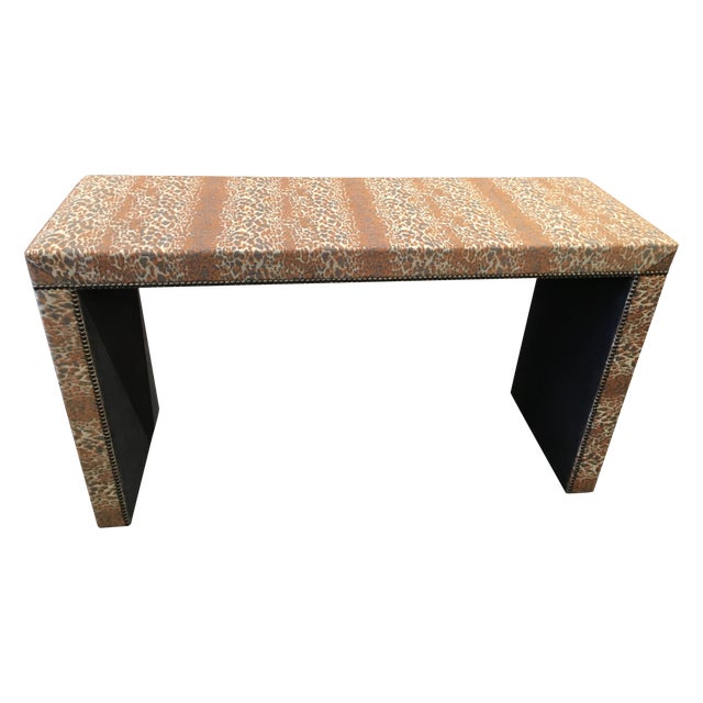 Wesley Hall Fabric Covered Console Table - Image 1 of 8