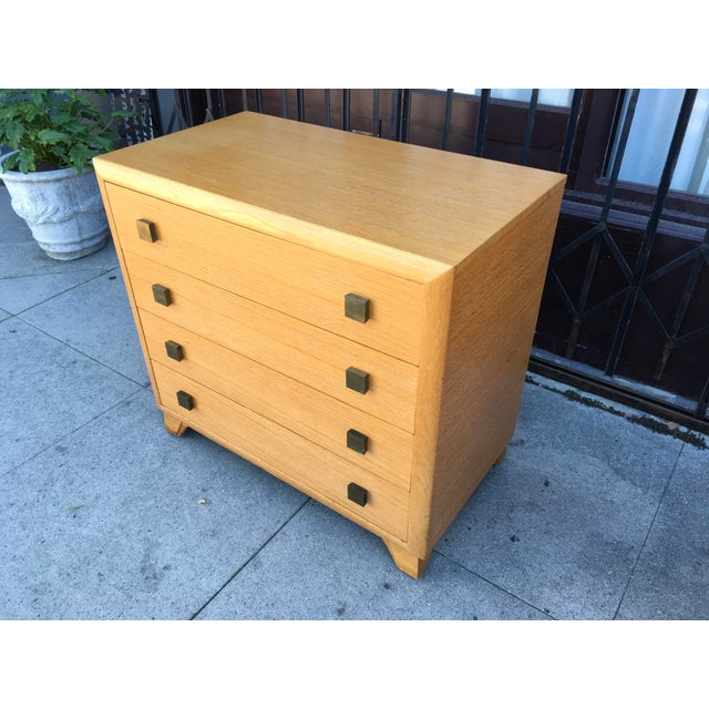 Art Deco 1940s Art Deco Petite Chest of Drawers For Sale - Image 3 of 13