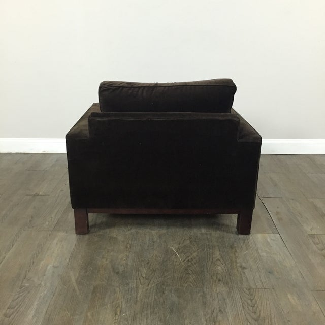 Room & Board Brown Suede Club Chair - Image 9 of 11