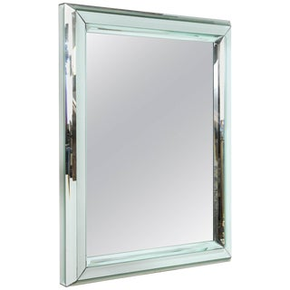 Large All Beveled Glass Wall Mirror For Sale