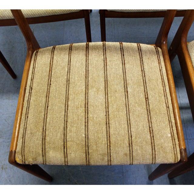 Wood Johannes Andersen Uldum Danish Modern Teak Dining Chairs - Set of 8 For Sale - Image 7 of 12