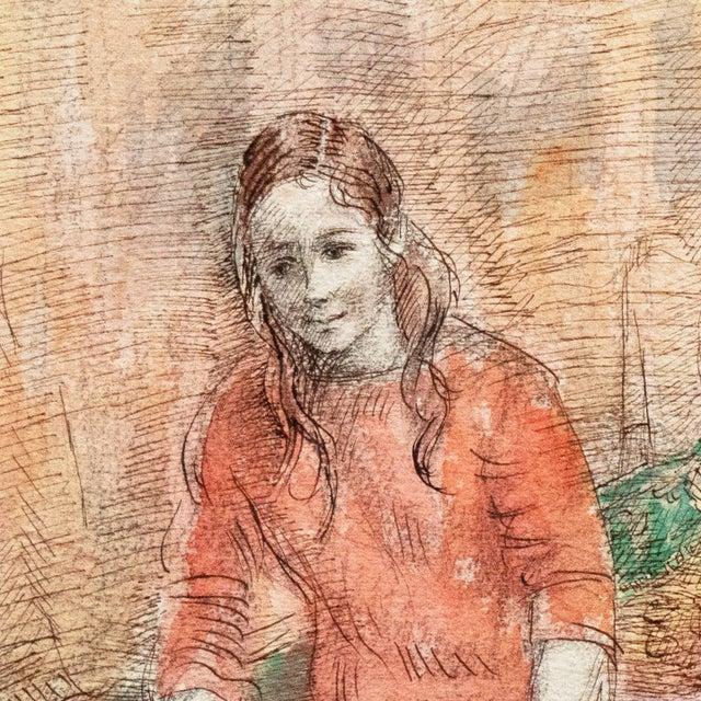'Jeudi à La Maison' by Lucien Philippe Moretti, French Post-Impressionist, Ecole Des Beaux-Arts For Sale - Image 4 of 10
