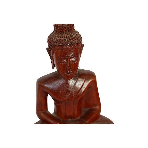 Hand-Carved Wood Buddha - Image 3 of 4