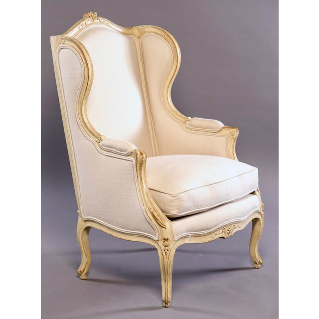 Early 20th Century French Bergere With New Upholstery For Sale - Image 11 of 11