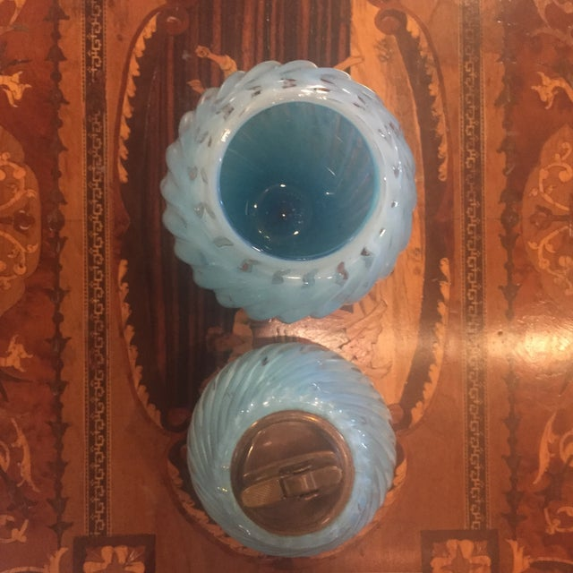 Baby Blue Muranoglass Smoke Set - A Pair - Image 5 of 10