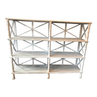 British Colonial White Wooden Display Shelves For Sale