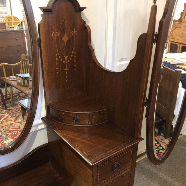 Antique Edwardian Inlay Vanity For Sale - Image 6 of 13