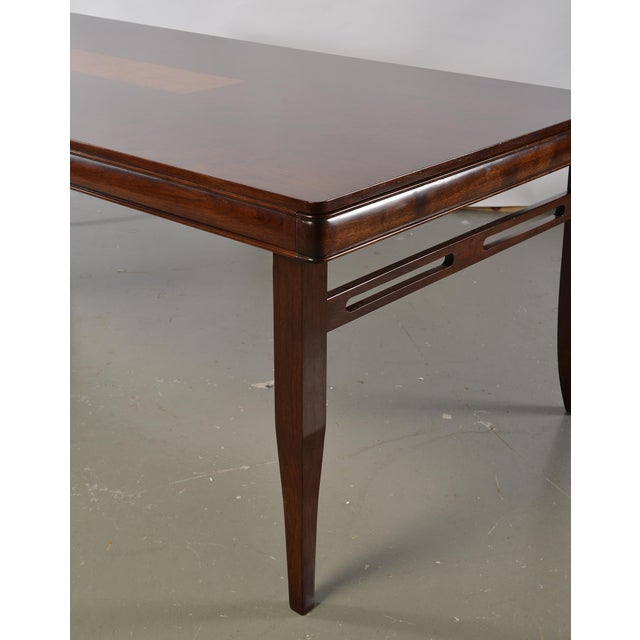 Talisman Bespoke Bespoke Art Deco Style Walnut Extending Dining Table For Sale - Image 4 of 12