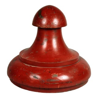 Industrial Red Painted Wooden Mold For Sale