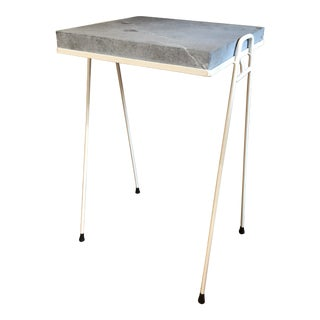 Grey Stone Side Table For Sale
