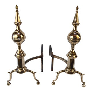 19th Century Steepletop Andirons
