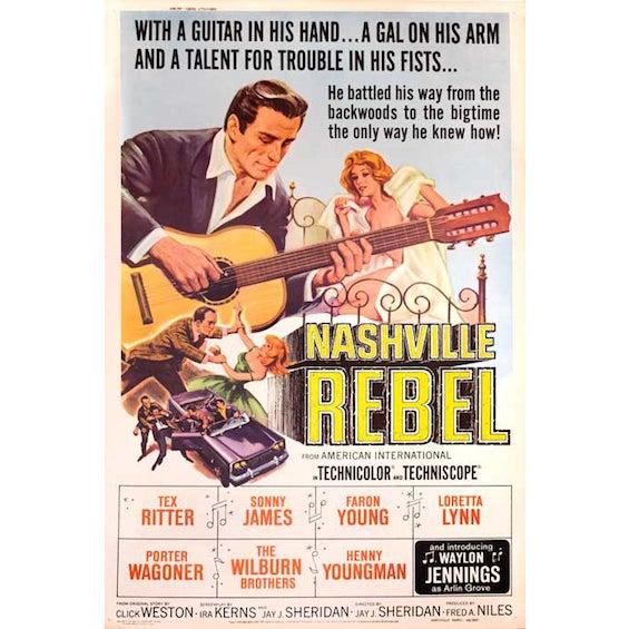Nashville Rebel 1966 Giant Movie Poster - Image 2 of 2