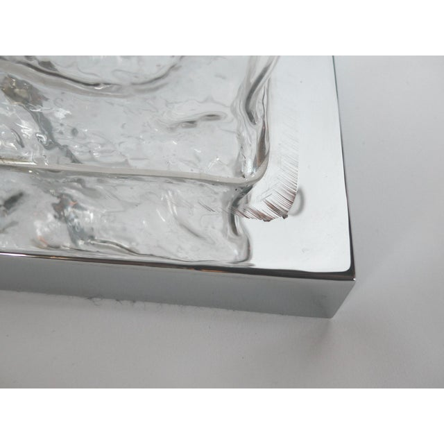 Modern Ice Cube Glass Table Lamps - A Pair - Image 8 of 8