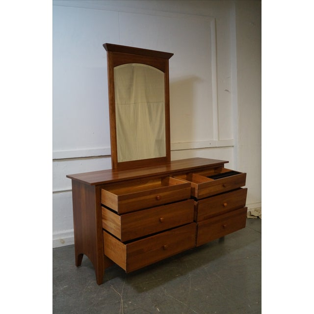 Ethan Allen New Impressions Solid Cherry Dresser With Mirror - Image 5 of 10