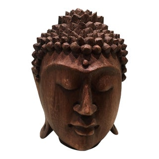 Carved Wooden Head Sculpture