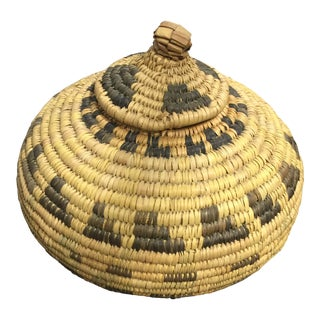 Early 20th Century Antique Northwest Woven Basket For Sale
