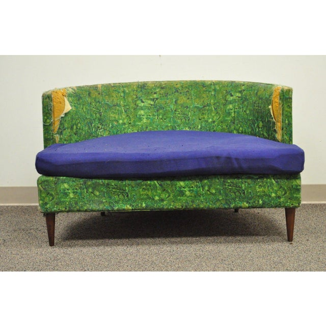 Vintage Selig Mid Century Modern Oversized Wide Barrel Lounge Chair Baughman Era - Image 3 of 11
