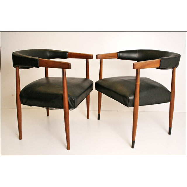 Danish Modern Accent Chairs - Pair - Image 10 of 11