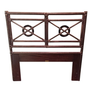 1980s Boho Chic McGuire Furniture Bamboo Target Twin Headboard For Sale