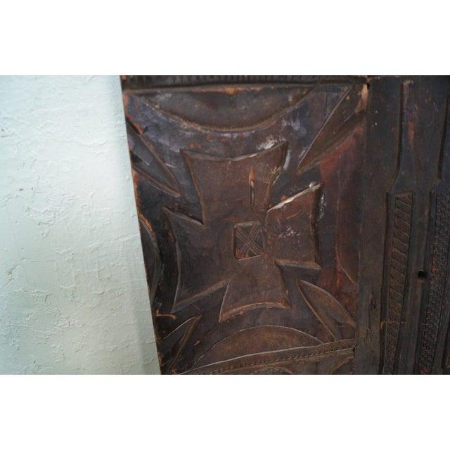 Brown Tribal African Dogan Door (C) For Sale - Image 8 of 10