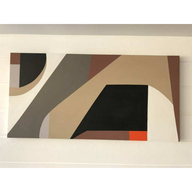 2010s Tony Marine Mid-Century Inspired Painting For Sale - Image 5 of 6
