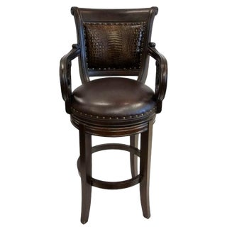 Modern French Tuscan Ranch Bar Stool For Sale