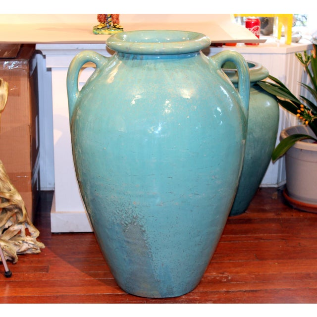 Antique Galloway Terracotta Ceramic Art Deco Pottery Garden Urn For Sale In New York - Image 6 of 7