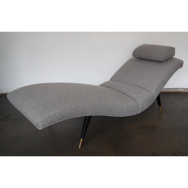 We have this spectacular original Mid-Century Modern chaise lounge that dates back to the 1950's, and has been...