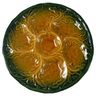 Majolica Oyster Wall Plate Vallauris For Sale